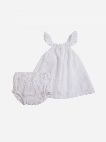 סט שמלה ותחתונים / 3M-2Y