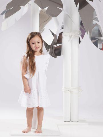שמלת פפלום עם מלמלה / בנות