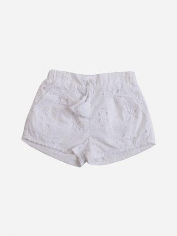 מכנסיים קצרים ברקמת פרחים / בנות