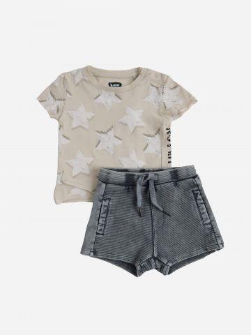 סט חולצה ומכנסיים קצרים / 6M-2Y