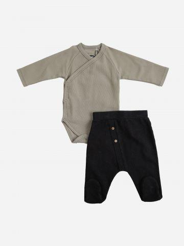 סט בגד גוף ומכנסיים  / N.B-6M