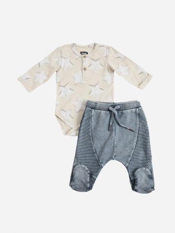 סט בגד גוף ומכנסיים ארוכים / N.B-6Y