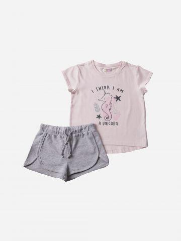 סט חולצה ומכנסיים / בנות