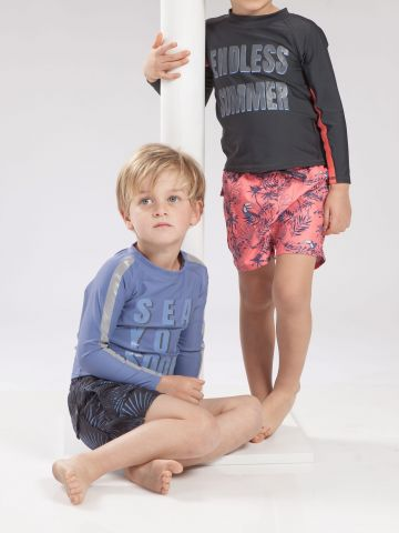מכנסי בגד ים בהדפס ג'ונגל