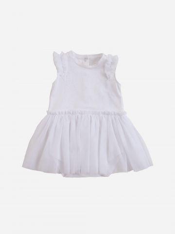שמלת בגד גוף עם טול / 3-24M