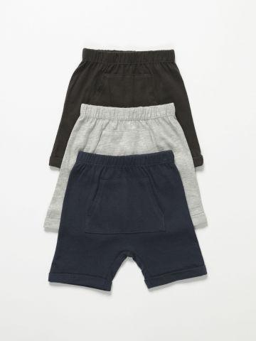מארז 3 מכנסיים עם כיס / 3M-3Y