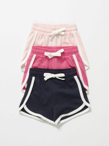 מארז 3 מכנסי טרנינג קצרים / 3M-3Y