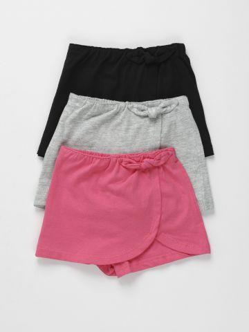 מארז 3 מכנסי חצאית עם פפיון / 3M-3Y