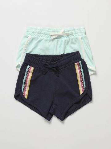 מארז 2 מכנסי טרנינג קצרים / בנות