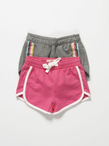 מארז 2 מכנסי טרנינג קצרים / בנות של FOX