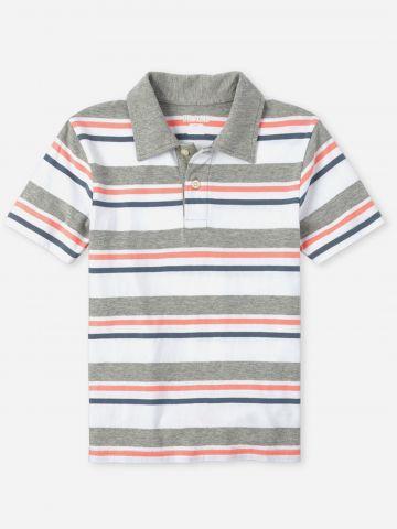 חולצת פולו בהדפס פסים / בנים