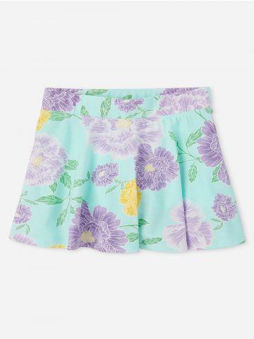 חצאית מיני פרחים / בנות