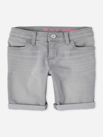 ג'ינס ברמודה עם קיפול / בנות של THE CHILDREN'S PLACE