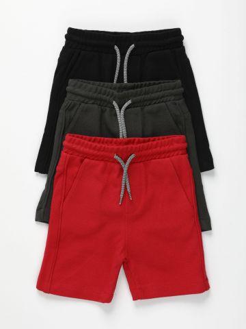 מארז 3 מכנסיים קצרים בצבעים שונים / 3M-3Y