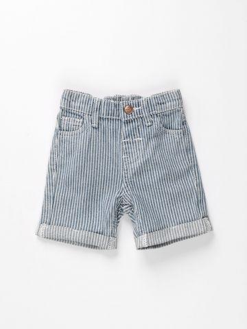 מכנסי ג'ינס בהדפס פסים / 3M-3Y