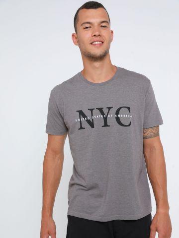 טי שירט עם הדפס NYC