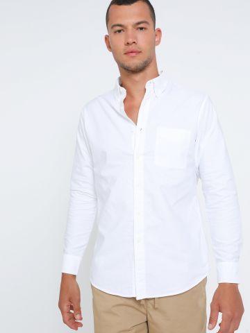 חולצת אוקספורד מכופתרת Slim Fit  של UNIQLO