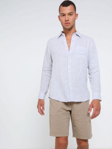 מכנסי טרנינג קצרים עם שרוך