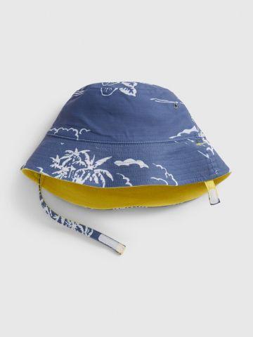 כובע באקט דו צדדי עם רצועת הידוק / 0-24M