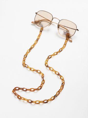 שרשרת למשקפיים עם חוליות שקופות של TERMINAL X