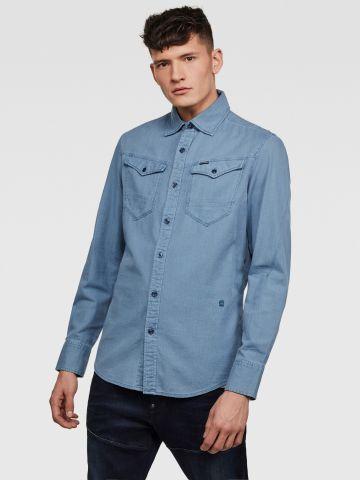 חולצת ג'ינס מכופתרת Slim-fit של G-STAR