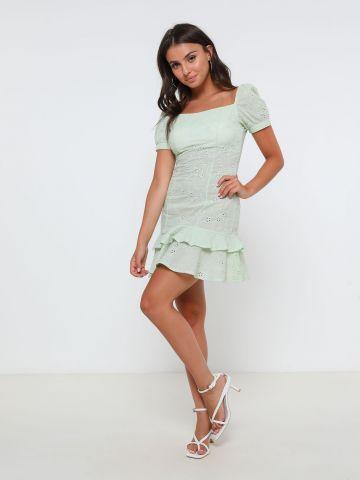 שמלת מיני עם עיטור רקמה סיומת שכבות של KIMOR X TERMINAL X