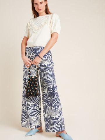 מכנסיים מתרחבים בהדפס אבסטרקטי