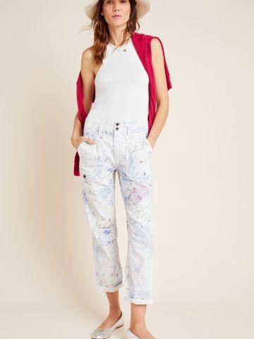 מכנסיים ארוכים בהדפס צבעי מים