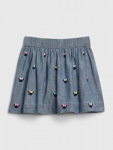 חצאית דמוי ג'ינס מיני מאוס / 12M-5Y