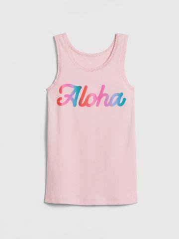 גופיה עם הדפס Aloha בשילוב תחרה / בנות של GAP