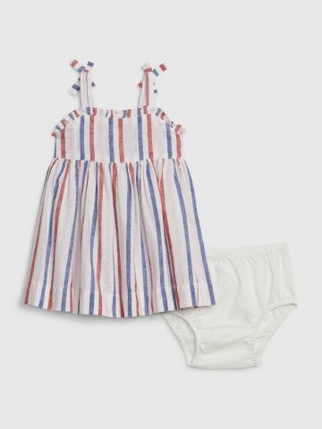סט שמלה ותחתונים בהדפס פסים / 0-24M של GAP