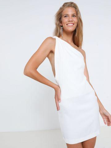 שמלת מיני וואן שולדר גב פתוח