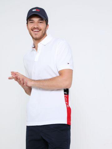 חולצת פולו עם סטריפ לוגו בצד של TOMMY HILFIGER