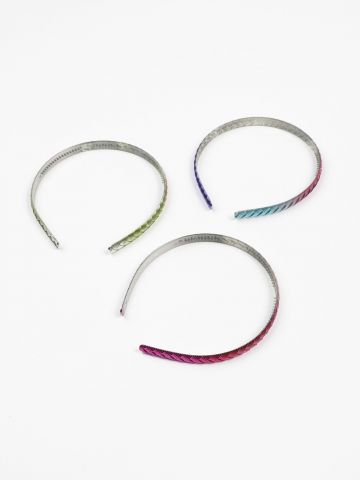 מארז 3 קשתות צבעוניות לשיער / בנות