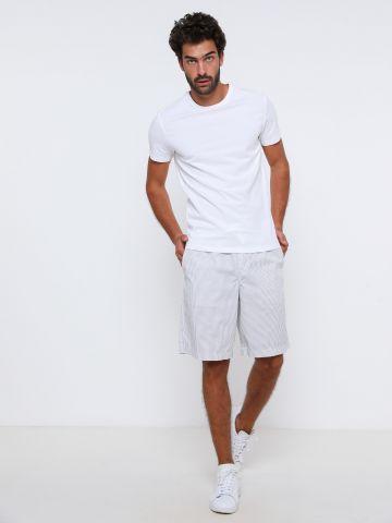 מכנסיים קצרים בהדפס פסים של GAP