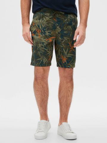 מכנסיים קצרים בהדפס עלים של GAP