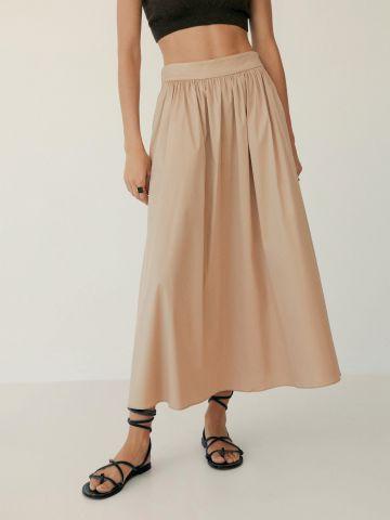 חצאית מקסי בגזרה מתרחבת
