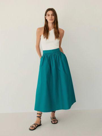 חצאית מקסי עם כפלים