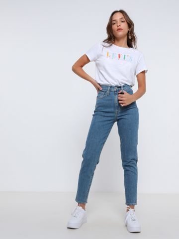ג'ינס ארוך בגזרת Mom של LEVIS