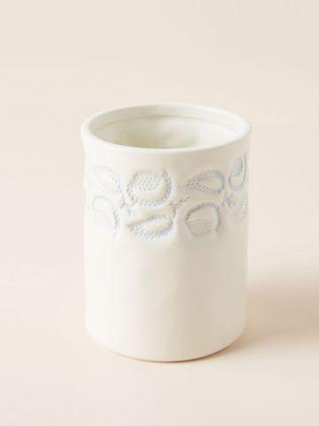 אגרטל חרס בדוגמת פרחים Lisa Ringwood / קטן