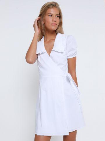 שמלת מיני מעטפת עם מלמלה של GLAMOROUS