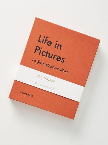 אלבום תמונות עם הדפס כיתוב