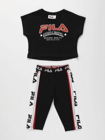 סט טי שירט וטייץ עם לוגו / בנות של FILA