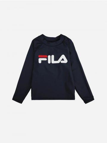 חולצת בגד ים עם הדפס לוגו / בנים