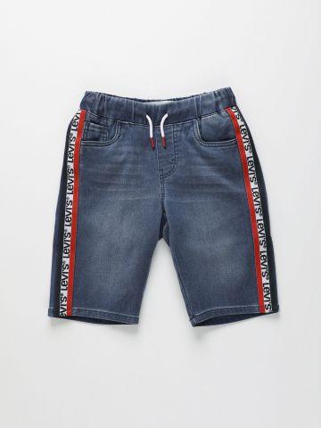 ג'ינס קצר עם סטריפים לוגו / בנים של LEVIS