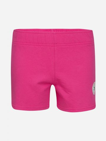 מכנסי טרנינג קצרים עם לוגו / בנות