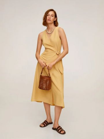 שמלת מידי מעטפת של MANGO