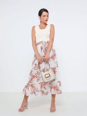 חצאית מקסי בהדפס פרחים של YANGA