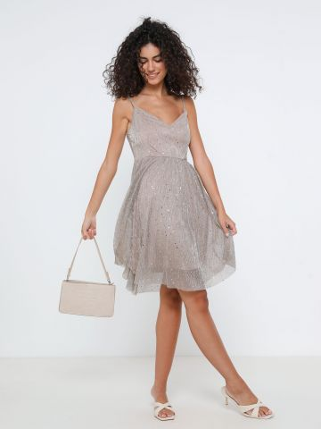 שמלת מיני פאייטים של YANGA