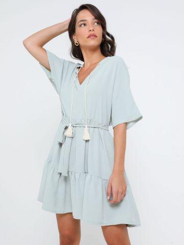 שמלת מיני עם שרוכים של YANGA